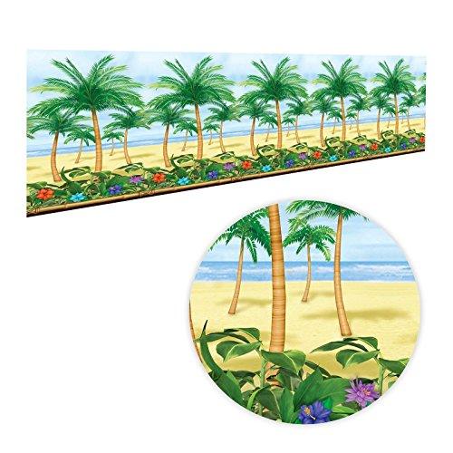 Rollo-decorativo-para-habitacin-de-152m-con-palmeras-hawaianas-paraso-de-verano