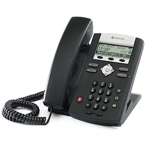 Polycom 2200-12360-025 Desktop Telefon VoIP SoundPoint IP321 schwarz