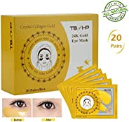 TBPHP Eye Patches Eye Mask Anti-Aging Hyaluronic Acid 24k Gold Eye Patches Under Eye Pads for Reducing Dark Ci