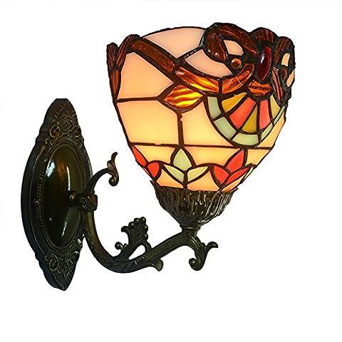 Nuomeiju® NMJ002 retro - mauer leichte see shell veranda lampe für keller mit metall wandleuchter (Gfci Steckdose)