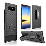Galaxy Note 8 Case, BEKASE (TM) Hard Shell Holster Combo Matte Finish Protective Slim Case for Samsung Galaxy Note 8 with KickStand and Locking Belt Swivel Clip (Black)
