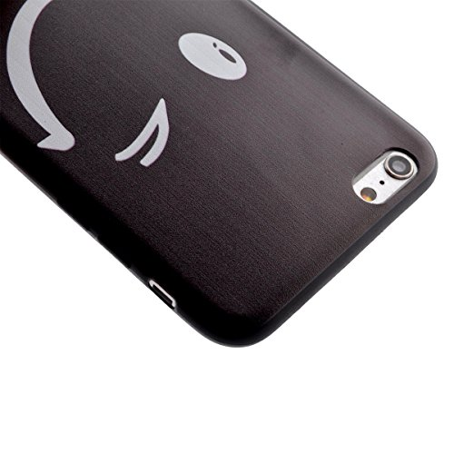 Felfy Hülle für iPhone 6,iPhone 6S Case Crystal Hülle Klare Ultradünne Silikon Gel Schutzhülle Durchsichtig Muster Kristall Transparent TPU Silikon Schutz Handy Hülle Case Tasche Etui Bumper für Apple Lächeln