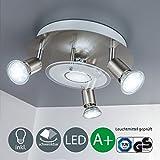 B.K.Licht LED Deckenleuchte Inkl. 4 x 3W GU10...