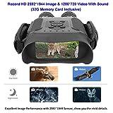 Bestguarder HD Digital Nachtsichtgerät mit 32G Speicherkarte NV-900 4.5X40mm Fernglas mit Zeitraffer Funktion Nimmt HD Bild und 720p Video mit 4