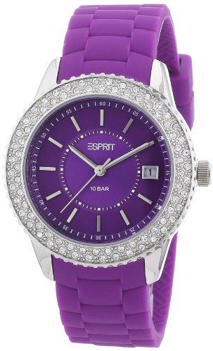 Esprit marin glints ES106212005 - Reloj analógico de cuarzo para mujer, correa de silicona color morado