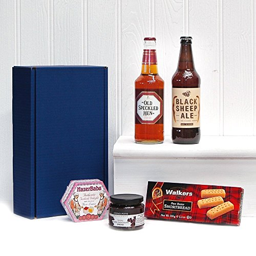 Gentlemans Ale Dunkin Delights Gift Hamper in a Blue Gift Box, Gift ideas for � Valentines, Christmas presents, Birthday, Anniversary, Dad, him, Grandad, Husband