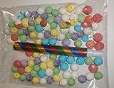 Blasrohr mit 100 Kugeln aus Papier bunt 18mm Pinata Kinder Geburtstag