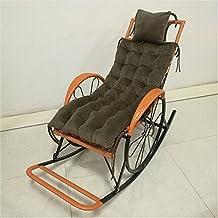 AMYDREAMSTORE Microfibra Color sólido Thiken Amortiguador de asiento de eje de balancín Cojín de silla tumbona