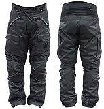 hommes ce protection imperméable noir Moto pantalon - Noir, 44