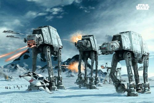 Empireposter - Star Wars - AT-AT auf Hoth - Größe (cm), ca. 91,5x61 - ()
