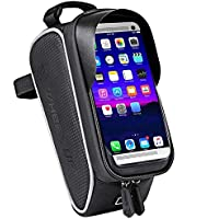 Yeelight Bicycle Frame Bag Waterproof Bike Bag Top Tube Bag Mobile Phone Case with Sun Visor Earphone Hole TPU Touchscreen for Smartphones up to 6.0 Inches for iPhone/Samsung/Huawei