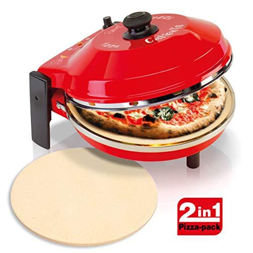 Spice Set Forno Pizza Caliente 400 gradi resistenza circolare 1200 W Garanzia Italia 2 anni + seconda Pietra Refrattaria ricambio