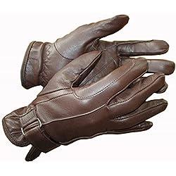 Caballo de cuero señoras guantes de equitación hebilla negro marrón Tan manos sobre Equestrian, color marrón, tamaño XS