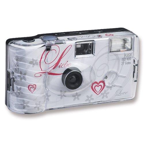 10x Hochzeitskamera Einwegkamera Liebe weiss