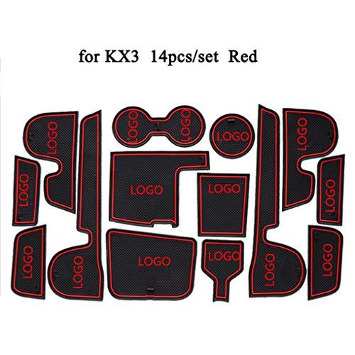PRENKIN 14pcs/Set Becherhalter Innentür Tor Slots Pad Groove Anti Rutsch Matte Ersatz für Kia KX3 - 14-cup-ersatz