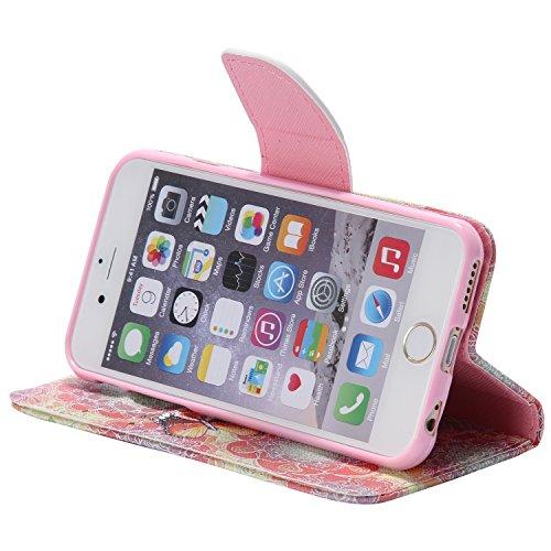 PU für Apple iPhone 6 (4.7 Zoll) Hülle,Farbe geprägt Geprägte Handyhülle / Tasche / Cover / Case für das Apple iPhone 6 (4.7 Zoll) PU Leder Flip Cover Leder Hülle Kunstleder Folio Schutzhülle Wallet T 15