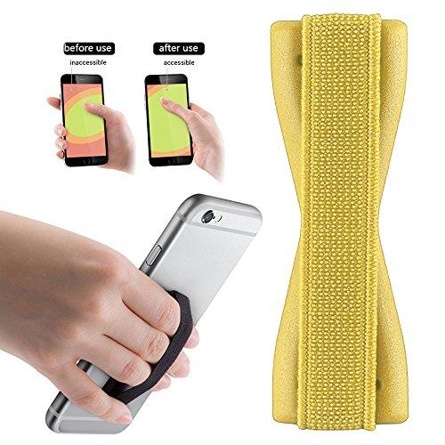 Preisvergleich Produktbild 2Ticks SAMSUNG GALAXY S7 EDGE Anti-Rutsch-elastische Tablette Handy Finger Griff Ring Halter Selfie Strap - Yellow