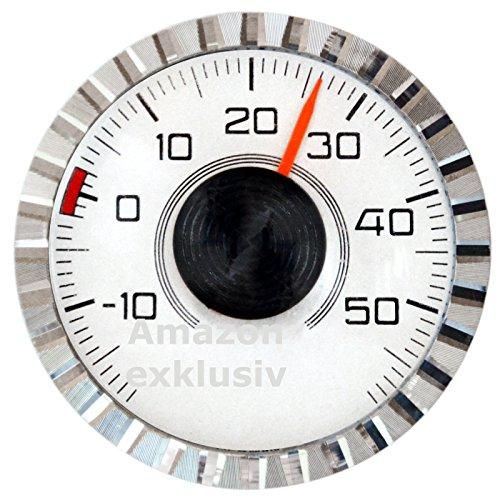 Preisvergleich Produktbild Original 1977 Bimetall Thermometer von HR mit Magnet und Halter Art. 2806