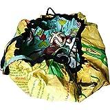 Umweltschonende, praktische Funktionstasche (2 in 1) in Gelb aus recyceltem, tropischem Fischfuttersackmaterial gefertigt für alle Menschen die Nachhaltigkeit auch leben