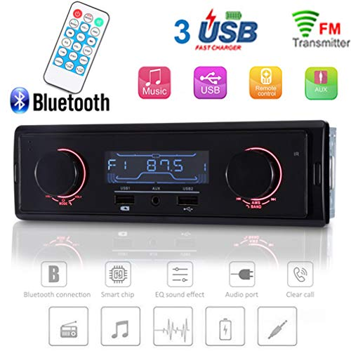 CARDVR AutoRadio 12V Auto MP3 Auto Audio Player/Radio/Stereo Unterstützung FM/AM Aux Car Audio 1 Din 3USB WMA Gebühr Bluetooth mit Fernbedienung