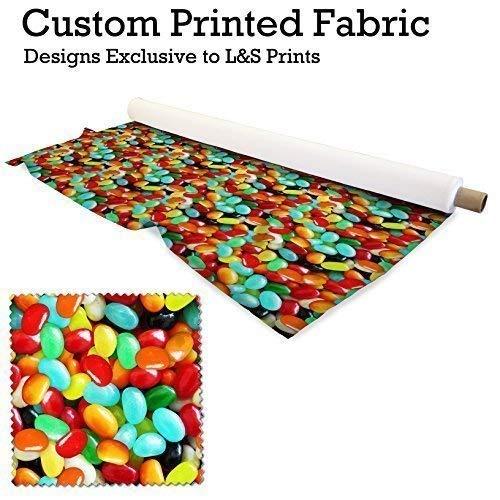L&S PRINTS FOAM DESIGNS Jelly Beans Design Digital Print Lycra 2Wege Stretch Polyester bedruckter Stoff 149,9cm Breite hergestellt in Yorkshire
