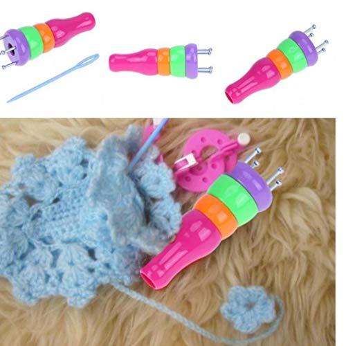 Plástico ABS hilo de lana que hace punto Knitter muñeca Dolly Craft Loom cuerda trenzada Maker Accesorios Herramientas que hacen punto de costura