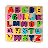 SOLINI 26-tlg. Holzpuzzle ABC Buchstaben mehrfarbig OneSize