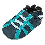Lappade Zapatillas Puschen Cuero Niños Zapato de Gateo Bebé Zapatos...