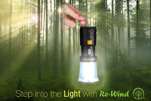 51mwGoMGdvL - NEW Re-Wind Wind-Up Rainproof Portable LED Torch Flashlight & Lantern with Hanging Hook & Wrist Strap - No Batteries Required - Ideal for Walking, Hiking, Camping, Festivals, Power Cuts, Shed, Caravans, SOS Emergency Light - 2 Year Warranty Included