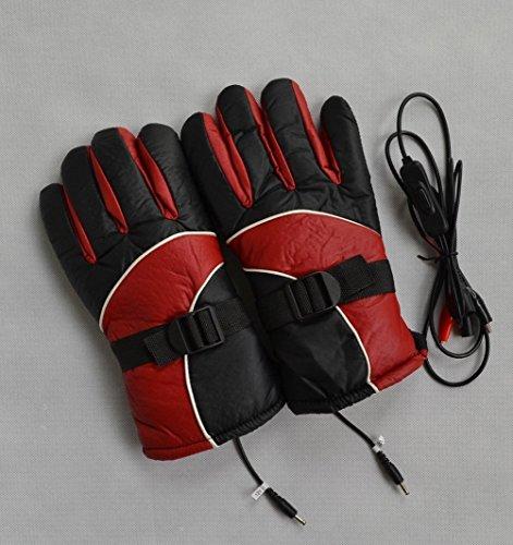 Rojo caliente calentado calor interior motocicleta moto guantes al aire libre 12V