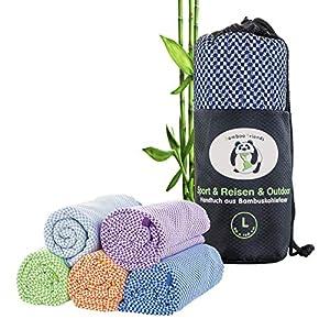 bamboo friends Bambus Reisehandtuch Handtuch – federleicht, super saugfähig, antibakteriell & schnelltrocknend…