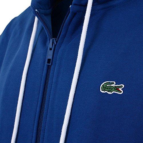 Lacoste SH1933 Sportlicher Hoodie, Kapuzensweatshirt, Kapuzenpullover, Kapuzenpulli, mit Reißverschluss, Full Zipped Hooded Sweatshirt, 100% Baumwolle Inkwell CC3