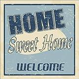 Cuadro sobre lienzo 90 x 90 cm: Home sweet home de Colourbox - cuadro terminado, cuadro sobre bastidor, lámina terminada sobre lienzo auténtico, impresión en lienzo