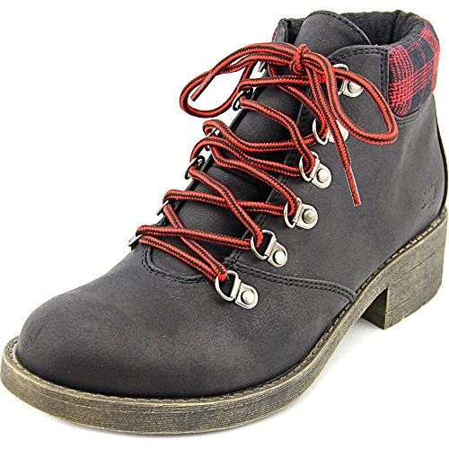Rocket Dog Timber Graham Damen Rund Faux Wildleder Mode-Stiefeletten Black