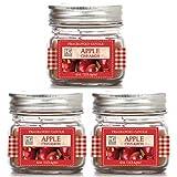 Hosley, set di 3mela cannella candela in barattolo–113,4gram ciascuno. votive ideale regalo per festa, matrimoni, spa, Reiki, meditazione, bagno impostazioni