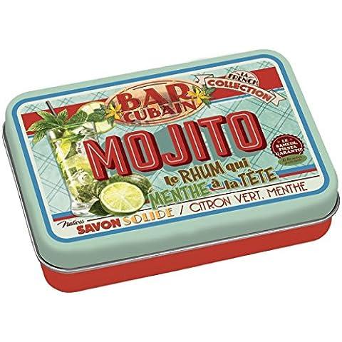 Sapone saponetta con scatola latta NATIVES tipo VINTAGE 611290 Slogan MOJITO