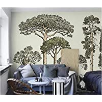 Wall Murals 3D Wallpaper Nordic French Style Hand-Painted Big Tree Wallpaper Mural Wallpaper Wall Living Room Sofa Tv Wall Bedroom Wallpaper-430Cmx300Cm