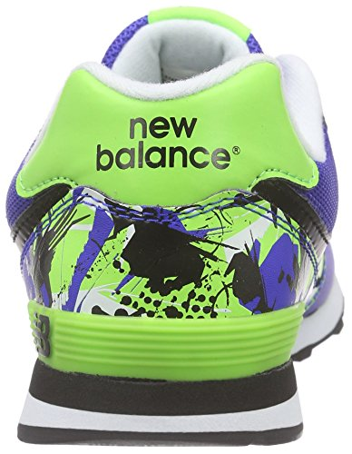 New Balance Unisex-Kinder 574v1 Low-Top Mehrfarbig (Blue/Green)