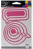Unbekannt EK Success Zitat Bubbles sterben Vorlage, Metall, pink, 14x 9,5x 0,1cm