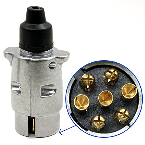 perg Transferencia 7pin colgante de conector de cableado redondas iluminada Empalme 12V 12N para caravana de camiones de botas de arrastre Cuerda