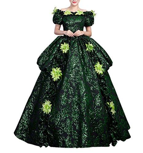 Frauen Berühmte Halloween Kostüme (Damen Viktorianisches Kleid Renaissance mittelalterliche Maxi Kostüm Halloween (40,)