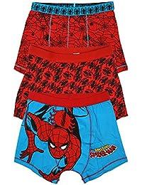 Niños Marvel Spiderman Paquete de 3 Bañador FIT Calzoncillos Ropa interior tallas desde 2A 12 años