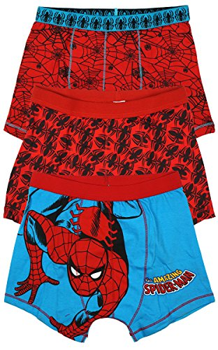 Boys Marvel Spiderman Pack Of 3 Trunk Fit Briefs Underpants Sizes From 2 To 12 Years