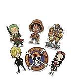 DADATU Adesivi 7 PCS One Piece Anime Adesivo Uffy Tony Chopper Carino Impermeabile Suitcase Laptop Chiebra Portare Skateboard Bicicletta