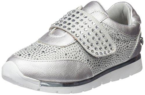 XTI 554580, Zapatillas sin Cordones para Niñas, Plateado (Silver), 32 EU
