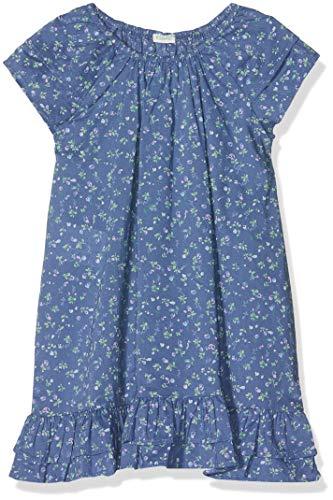etton Baby - Mädchen Dress Kleid, Blau (Blu All/Over 87q), One Size (Herstellergröße: 90) ()