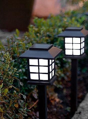4lanterna a energia solare in gioco di luci led, trasporto oriental garden path lights