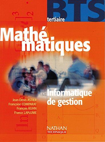 Maths, BTS tertiaire (information de gestion), élève, 2000