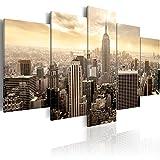 murando - Bilder 200x100 cm Vlies Leinwandbild 5 TLG Kunstdruck modern Wandbilder XXL Wanddekoration Design Wand Bild - City Stadt New York Sepia d-B-0006-b-m