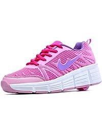 Sneakers mit automatischen Rollen für Kinder. Pink.